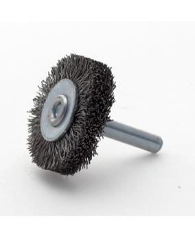 Cepillo de disco metálico. Vástago 6 mm.
